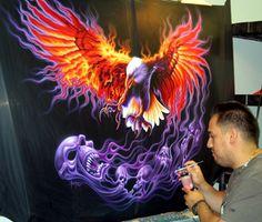 CT Custom Airbrush & Paint, Airbrushing, Motorcycle Art, Motorcycles, designs, helmets, wall murals, skulls, bikes & vehicles