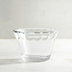 Glass Dip Bowl Clear