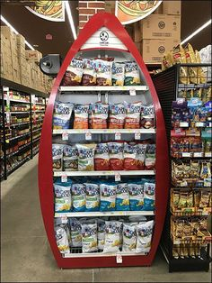 This Cape Cod Potato Chips Rowboat Display builds upon its salty seaside image with a boat-shaped display of prominence and significant size. Cape Cod Potato Chips, Visual Merchandising, Potatoes, Display, Holiday Decor, Garage, Home Decor, Furniture, Floor Space