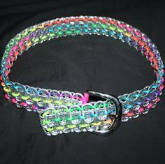 Pop Can Tab Belt - Choose Your Colors. $25.00, via Etsy.