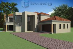 4 bedroom house plans in South Africa. Explore unique 4 bedroom house floor plans, 4 bedroom house plans with photos and double storey 4 bedroom house plans 6 Bedroom House Plans, Floor Plan 4 Bedroom, House Plans Mansion, My House Plans, Garage House Plans, House Floor Plans, Double Storey House Plans, Built In Braai, House Plans South Africa