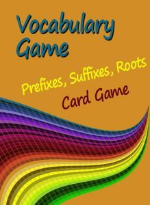 Great idea for a vocabulary game from ReadWriteThink