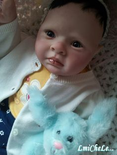 Reserve For Easter Delivery Completed Violet Completed Reborn Baby Doll from the Rowan 24 inch kit