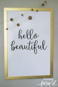 Free Printable hello beautiful