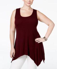American Rag Trendy Plus Size Striped Knit Tank Top, Only at Macy's | macys.com