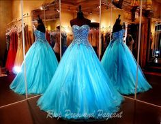 You will be the princess at the ball in this elegant ball gown. Multi colored stones adorn the sweetheart bodice of this beauty cascading into the full tulle skirt. Gorgeous and it's at Rsvp Prom and Pageant, your Prom Store!
