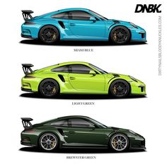 Which would you choose? Miami beat out Mexico blue in the last round so since it's kind of a blue with some green in it let's put it up against two extremes of green - brewster and lichtgrun. Prints available at Dirtynailsbloodyknuckles.com Link in profile #porsche #911 #porsche911 #991 #gt3 #911gt3 #gt3rs #991gt3 #911gt3rs #rs #gt3 #porschegt3 #991911 #automotiveart #illustration #carart #automotiveillustration #miamiblue #lichtgrun #brewstergreen#pts #painttosample #pts911 #ptsrs #918…