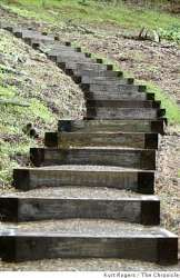 New Presidio trail wends down from overlook