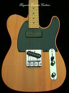 http://www.haywirecustomguitars.com Haywire Custom Guitars-USA Custom Shop-Mahogany Telecaster+P-90+Tele+Treble Bleed http://www.haywirecustomguitars.com