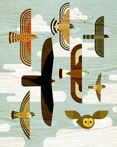 New Bird Silhouette Illustration Art Prints Ideas Bird Graphic, Graphic Art, Graphic Design, Animal Graphic, Art Et Illustration, Illustrations, Arte Tribal, Art Watercolor, Bird Silhouette