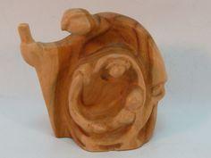 Holy Family Nativity Petite Olive Wood Figure Carved in Bethlehem for Shaker
