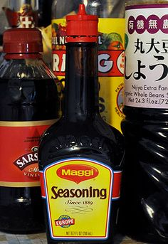 In last week& post about MSG, we mentioned one of our favorite monosodium glutamate-containing products: Maggi seasoning sauce Maggi Seasoning Sauce, Maggi Sauce, Beef Soup Recipes, Sauce Recipes, Latin American Food, Recipe Tonight, Savoury Dishes, Cooking Tips, Health Tips