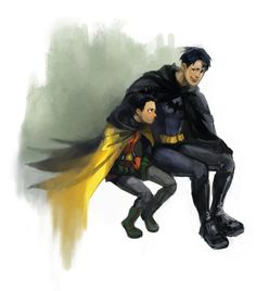 Dick Grayson and Damian Wayne