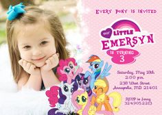 My Little Pony Birthday Party Invitation  by PrettyPaperPixels, $8.99