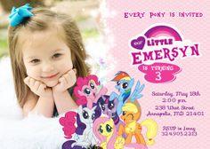 My Little Pony Birthday Party Invitation - Digital File