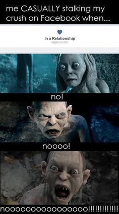 Haha, Gollum. :) I love him. I seriously read it in his voice. LOVE LOTR!