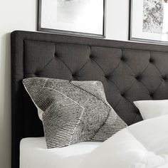 Felicienne Upholstered Panel Headboard with Diamond Tufting