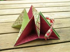 Triangular around book - could be a fun project for a Paper Arts camp class with Origami as the topic
