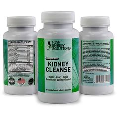 HIGH ENERGY SOLUTIONS Kidney Cleanser — 3 In 1 Health Support Supplement - Provides Cleanse, Detox And Support For Bladder, Urinary, Kidneys - Maximum Strength (60) - 700mg Vegetable Capsules - USA >>> Be sure to check out this awesome product.