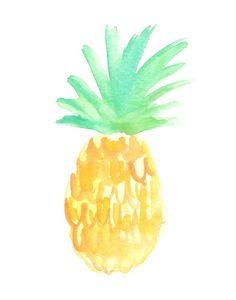 Watercolor Salty Pineapple Print | Tropical Art | Hello Monday Design | Beachy Art | Beach Vibes | Costa Rica Inspiration | Tropical Vibes | Pine Apple | Watercolor Fruit | Abstract Pineapple | Nursery Art | Wall Art | Beach Nursery