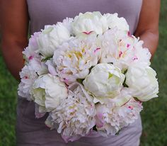 Wedding Natural Touch Blush Pink and White Peony Silk by Wedideas, $110.00