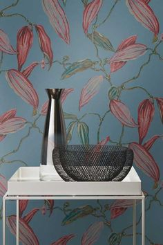 Lovely bold floral wallpaper design by Albany.