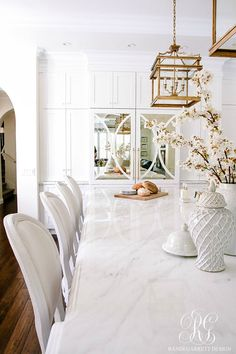 Dark to Light Kitchen Before and After - Elegant White Kitchen Reveal