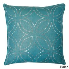 Create a stylish look in your home with the Florencia diamond decorative pillow. Featuring a feather fill, this one of a kind pillow is available in a baltic, burnt orange, lemon curry, linden green, silver or white finish.