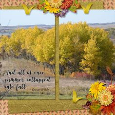 Autumn has come. Beautiful reds and yellows have begun to replace the summer greens. Autumn Leaves by ADB-Designs is perfect for scrapping those lovely fall photos.