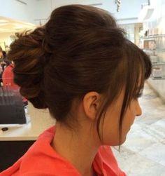 12 brunette french twist updo