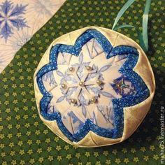 Новогодний шар - 10 см - белый,новогодний подарок,новогодний сувенир,новогоднее украшение