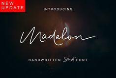 Madelon Script_NEW VERSION by Ijemrockart / Letterplay on @creativemarket