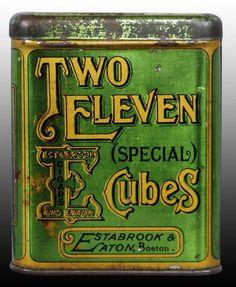 Two Eleven Special Cubes Tobacco Tin, Boston