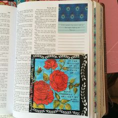 My Painted coloring page was too big to fit in my bible so i scanned it and printed it out on glossy photo paper then tipped it in #biblejournaling #biblejournalingcommunity #scripturedoodles http://ift.tt/1KAavV3
