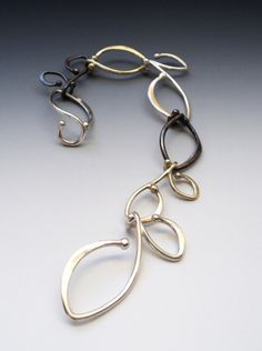 Jungle Bracelet by Melissa Scoppa || Sterling Silver, Oxidized Bronze, Yellow Silver