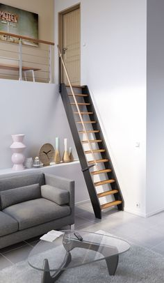 New Design Room Loft Mezzanine 64 Ideas Loft Staircase, Staircase Design, Stairs To Loft, Stair Design, Staircases, Loft Spaces, Small Spaces, Small Space Stairs, Tiny Loft