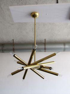 Stilnovo style chandelier, via * wit + delight Pendant Lighting, I Love Lamp, Lighting Design, Home Lighting, Lamp, Light, Diy Pendant, Light Fixtures, Lights