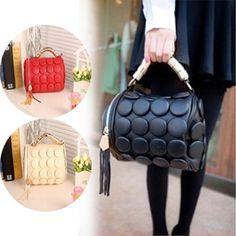 Fashion Women Messenger Bag PU Leather Handbag Multifunctional Cylinder Shoulder Bags with Tassel 2017 BS88