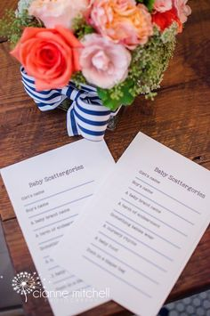 Baby Shower Scattergories - with a free printable template!