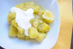 Citromos-tárkonyos krumplifőzelék