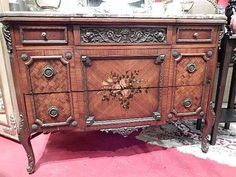 marbeled county french chest  | FRENCH EMPIRE STYLE CHEST, MARBLE TOP, HANDPAINTED FLORALS ON DRAWER ...