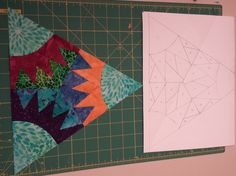 This is my design demonstrating how you are able to create a paper pieced block for this swap  :) I am considering making a pattern for it.