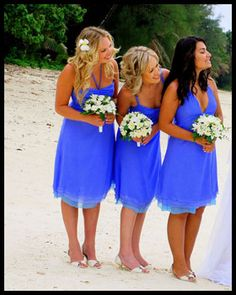 love the color! Bridesmaid dresses only with pink and orange bouquets