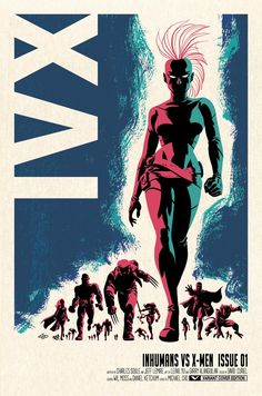 """""""Inhumans vs. X-Men #1"""" first look- Poster by Michael Cho"""