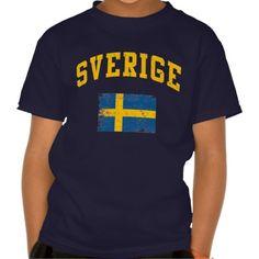 #Sverige T Shirt #Sweden #Swedish #zazzle
