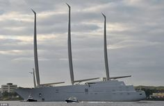 At eight-decks and with masts that are nearly 330ft tall, it eclipses the height of London...