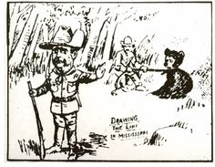 1902 Washington Post Cartoon of Roosevelt, Orgin of Teddy Bear  / Credit USFWS / Artist , Ding Darling