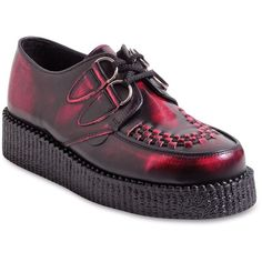 UNDERGROUND Wulfrun Mottled Leather Creepers (1.920 ARS) ❤ liked on  Polyvore featuring men's fashion