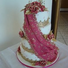 Image Result For Draped Wedding Cake Indian