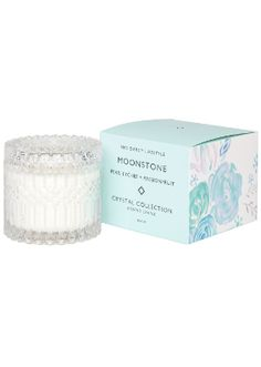 Mrs Darcy Moonstone Pear, Lychee & Passionfruit Crystal Candle Fruit Sorbet, Candles Online, Blue Candles, Candle Shop, Crystal Collection, Scented Candles, Pear, Fragrance, Crystals